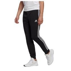 Adidas Essentials 3 Stripes Παντελόνι Φόρμας με Λάστιχο Μαύρο